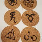 Thin Cork Coasters (6)