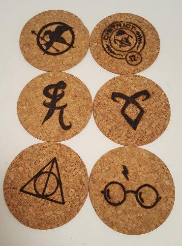 Thin Cork Coasters (6)