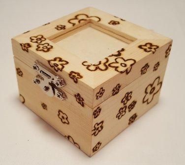 Small woodburned shadow box