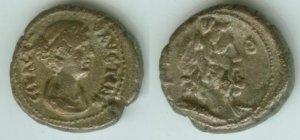 Roman Egypt: Rare Tetradrachm Of Empress Faustina II Year 19 Zeus Bust Reverse