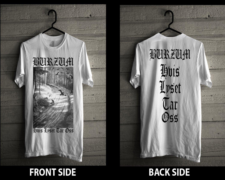 1BURZUM T shirt MAYHEM DARKTHRONE IMMORTAL GORGOROTH MARDUK EMPEROR Black Metal