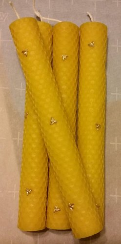 100 % pure yellow Beeswax hand rolled candle