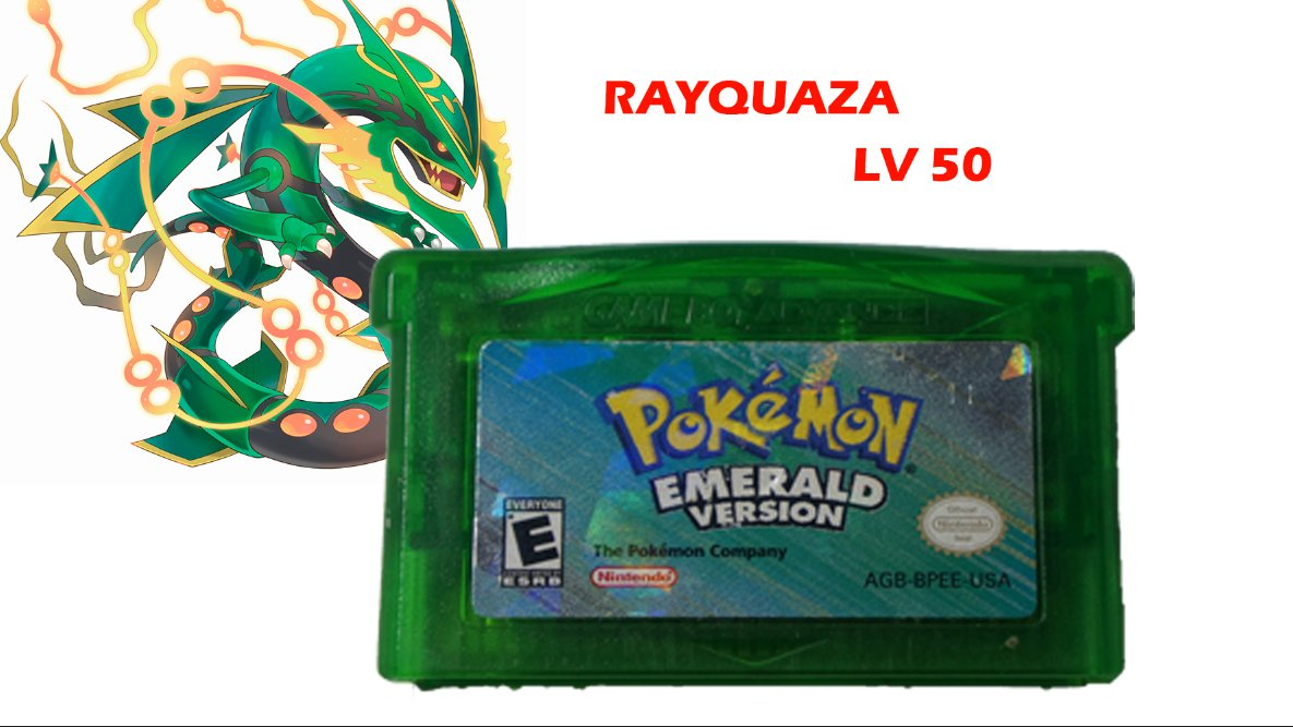 HOT Authentic Pokemon Emerald Version GBA gameboy with a Legendary Starter