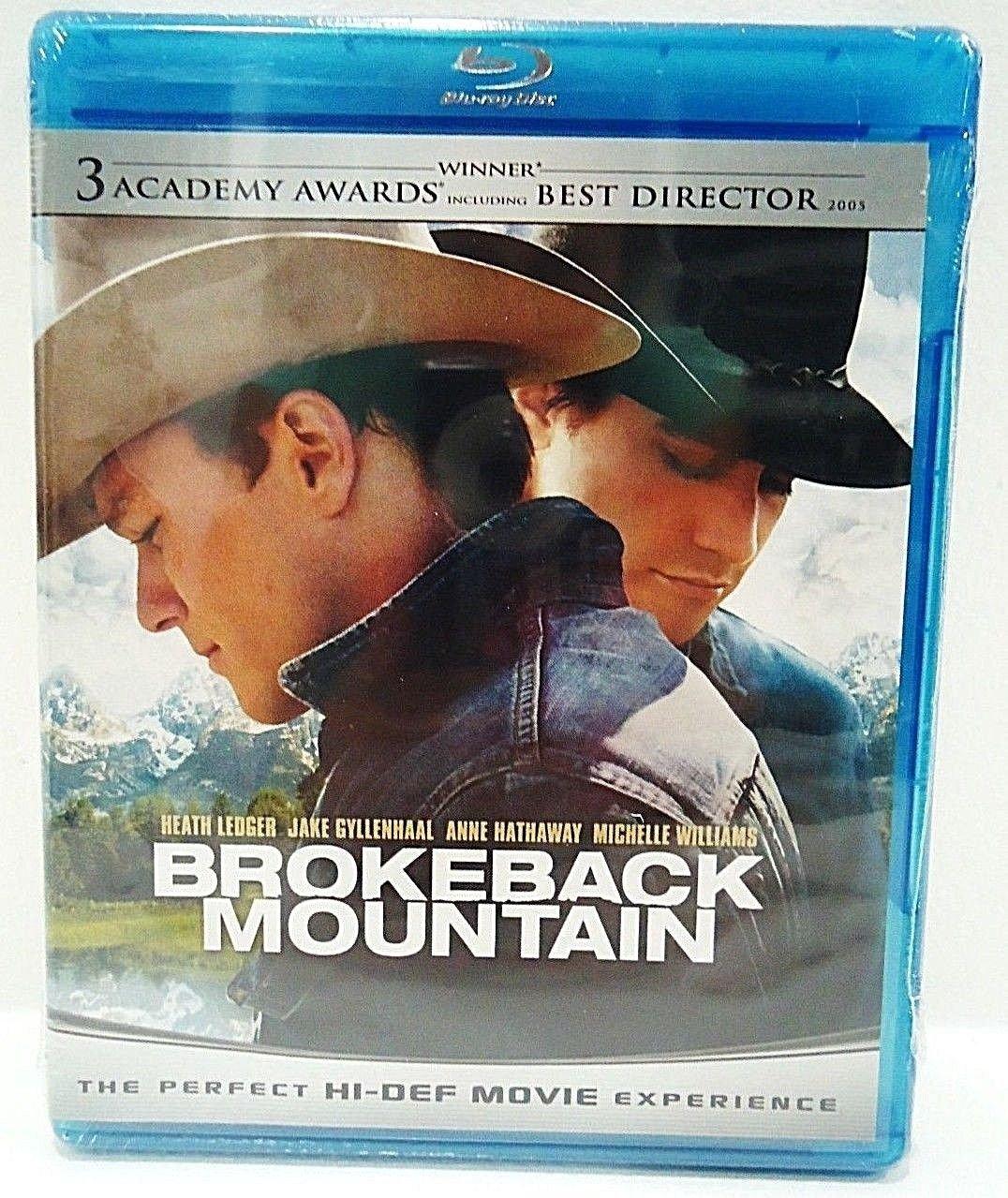 BROKEBACK MOUNTAIN - BLURAY - DVD - HEATH LEDGER - JAKE GYLLENHAAL - NEW - MOVIE