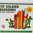 BLUW - TOY - SOLDIER - ARMY - GREEN - BOOKENDS - MILITARY - TOY STORY - NEW