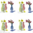 DECORATIVE - PLASTIC - FLOWER - VASE - REUSABLE - COLLAPSIBLE - NEW - FLORAL