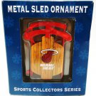 NBA - MIAMI HEAT - BASKETBALL - RED - CHRISTMAS - SLED - ORNAMENT - BRAND NEW