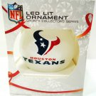 NFL - HOUSTON - TEXANS - COLOR - CHRISTMAS - LED - FOOTBALL - ORNAMENT - NEW