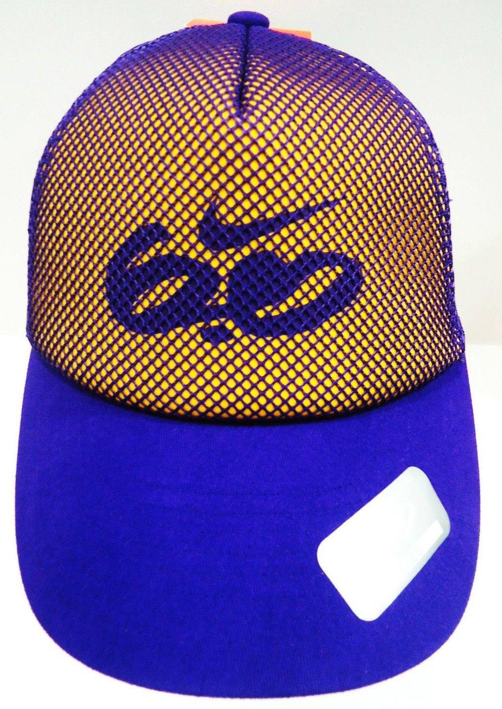 NIKE - 6.0 - FITTED - PURPLE - YELLOW - TRUCKER - CAP - LAKERS - KOBE - HAT
