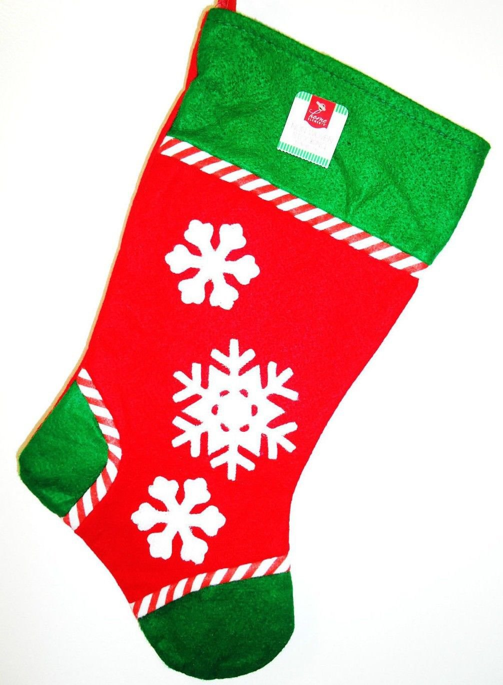 HOME ELEMENTS - CHRISTMAS - HOLIDAY - SNOWFLAKE - RED - GREEN - STOCKING - NEW