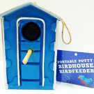 PORTABLE - POTTY - BIRD HOUSE - BIRD FEEDER - BRAND NEW - OUTHOUSE - BIRDS - NIB