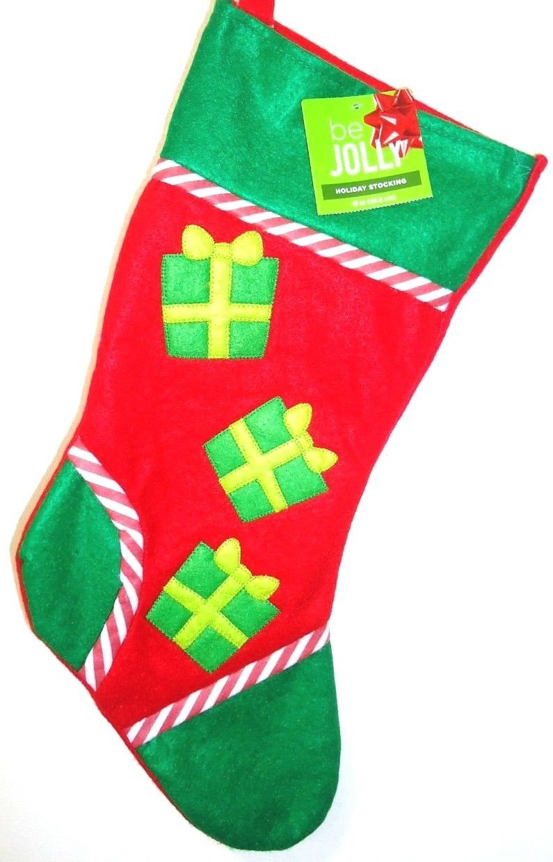 HOME ELEMENTS - CHRISTMAS - HOLIDAY - PRESENTS - RED - GREEN - STOCKING - NEW