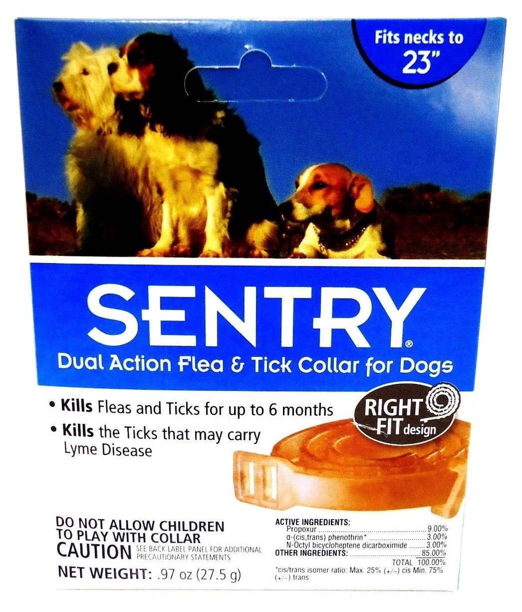 SENTRY - DUAL ACTION - FLEA - TICK - DOG - COLLAR - BRAND NEW - SEALED - PUPPIES