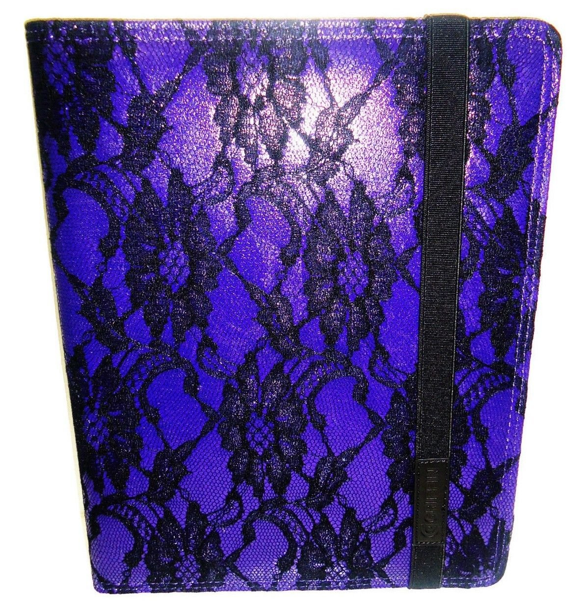 GRIFFIN - iPAD - 2 - 3RD GENERATION - PURPLE - SUEDE - LACE - FOLIO - CASE - NEW