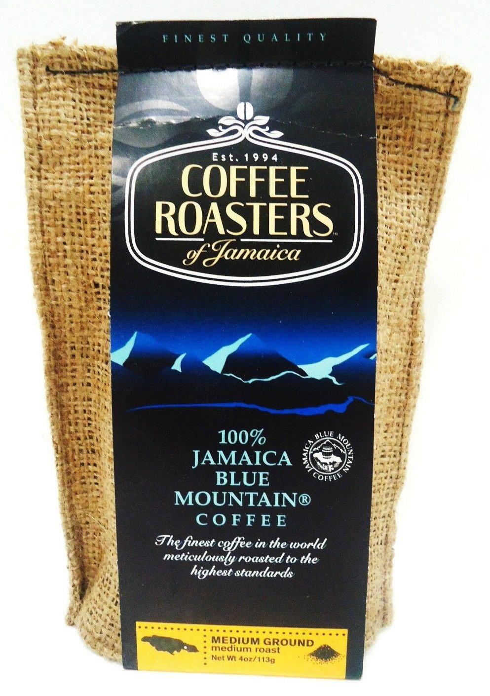 COFFEE - ROASTERS - JAMAICAN - BLUE - MOUNTAIN - COFFEE - 4 OZ. - NEW - SEALED