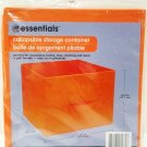 ROOM - ESSENTIALS - COLLAPSIBLE - STORAGE - CONTAINER - 11 X 10.5 - ORANGE - NEW