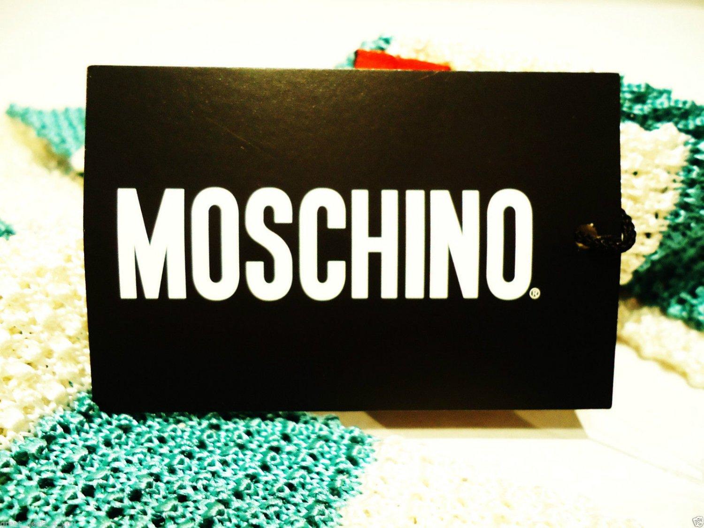 MOSCHINO - ITALY - WHITE - BLUE - SKINNY - STRIPED - SILK - TIE - NEW - TIES