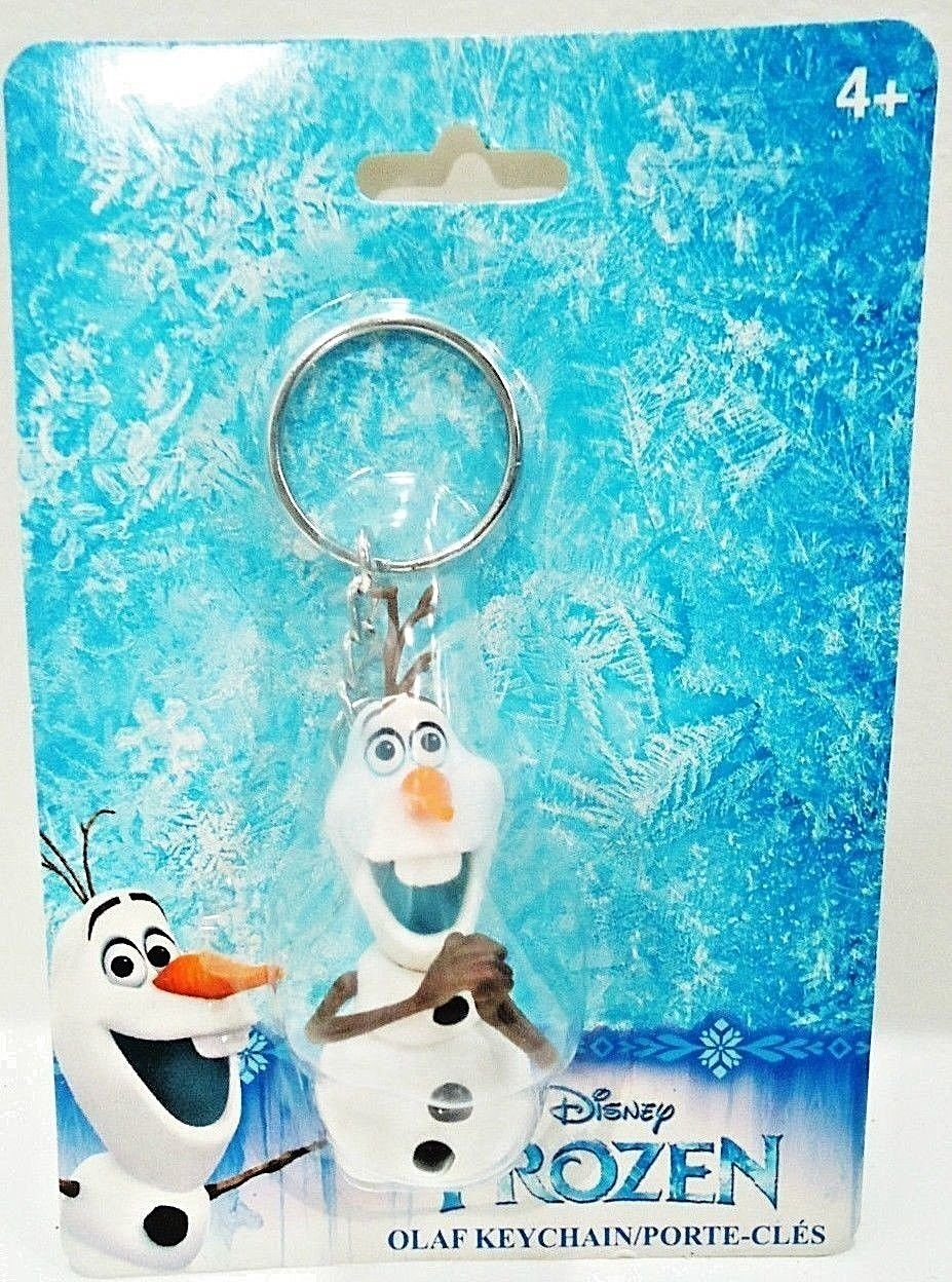 DISNEY - FROZEN - MOVIE - OLAF - COLLECTIBLE - KEY CHAIN - FOB - NEW - SEALED