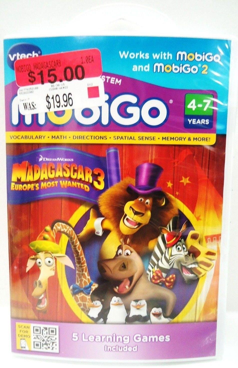 VTECH - MOBIGO - MADAGASCAR 3 - LEARNING - VIDEO - GAMES - NEW - EDUCATIONAL