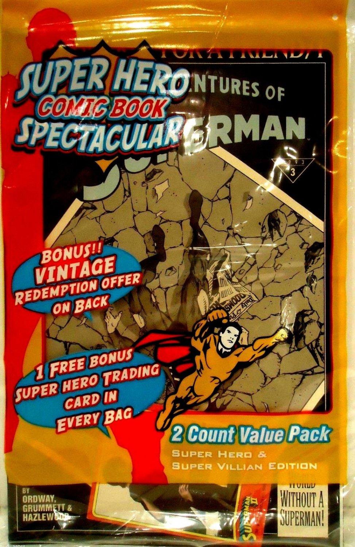 SUPER HERO - COMIC BOOK - SPECTACULAR - SUPERMAN #3 - 2 PCS - TRADING CARD - NEW