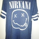 NIRVANA - BLUE - GRAY - WHITE - RETRO - BAND - MUSIC - LOGO - T-SHIRT - XL - NEW