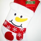 HOME ELEMENTS - CHRISTMAS - FROSTY - SNOWMAN - RED - WHITE - STOCKING - NEW