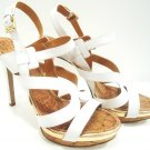 NINE WEST - BREEZIN - FASHION - WHITE - GOLD - HIGH - HEELS - SHOES - NEW - 10M