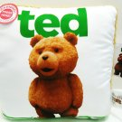 "TED - TALKING - MOVIE - PILLOW - WHITE - GREEN - NEW - 14"" X 14"" - DVD - TED 2"