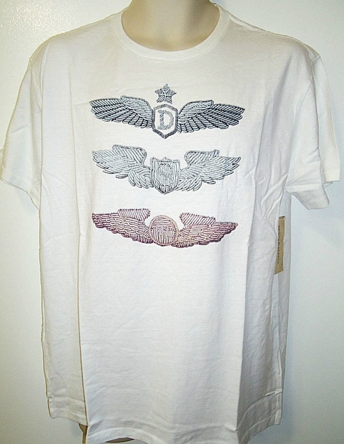 RALPH LAUREN - POLO - AIR FORCE - PILOT - WINGS - WHITE - T-SHIRT - NEW - LARGE