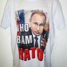 VLADIMIR - PUTIN - RUSSIA - NATO - MEDIUM - WHITE - T-SHIRT - NEW - TEE - KGB