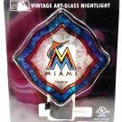 MIAMI - MARLINS - MLB - BASEBALL - VINTAGE - ART - GLASS - NIGHTLIGHT - NEW