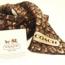 COACH - TAYLOR - SNAKE - PRINT - PONY - SILK - SCARF - BRAND NEW - BROWN - BEIGE