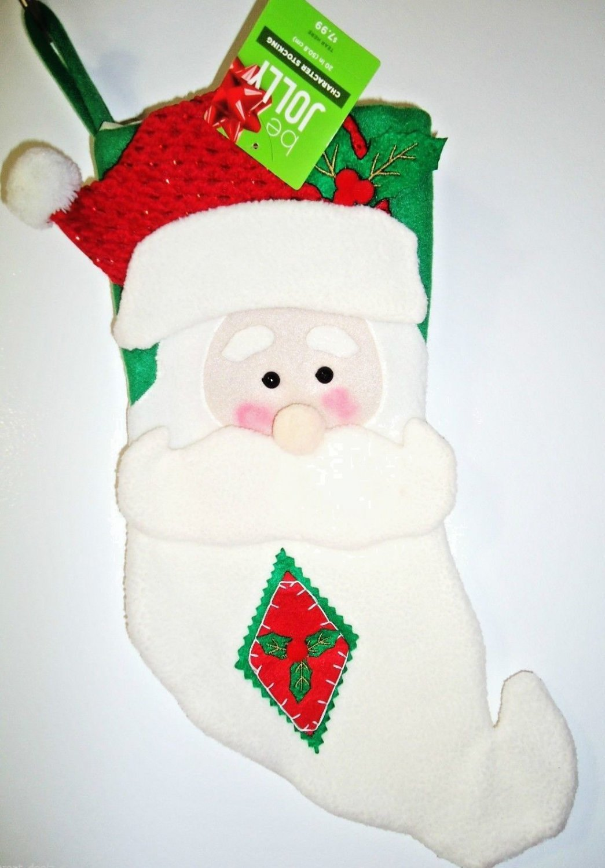 "HOME ELEMENTS - CHRISTMAS - HOLIDAY - 20"" - SANTA - CHARACTER - STOCKING - NEW"