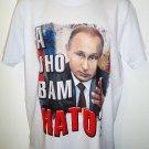 VLADIMIR - PUTIN - RUSSIA - NATO - LARGE - WHITE - T-SHIRT - NEW - TEE - KGB