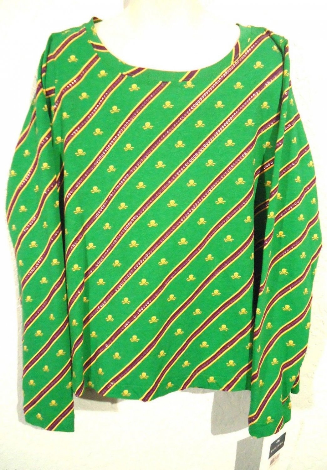 RALPH LAUREN - POLO - GIRL'S - GREEN - CROSSBONES - RUGBY - SHIRT - 8-10 - NEW