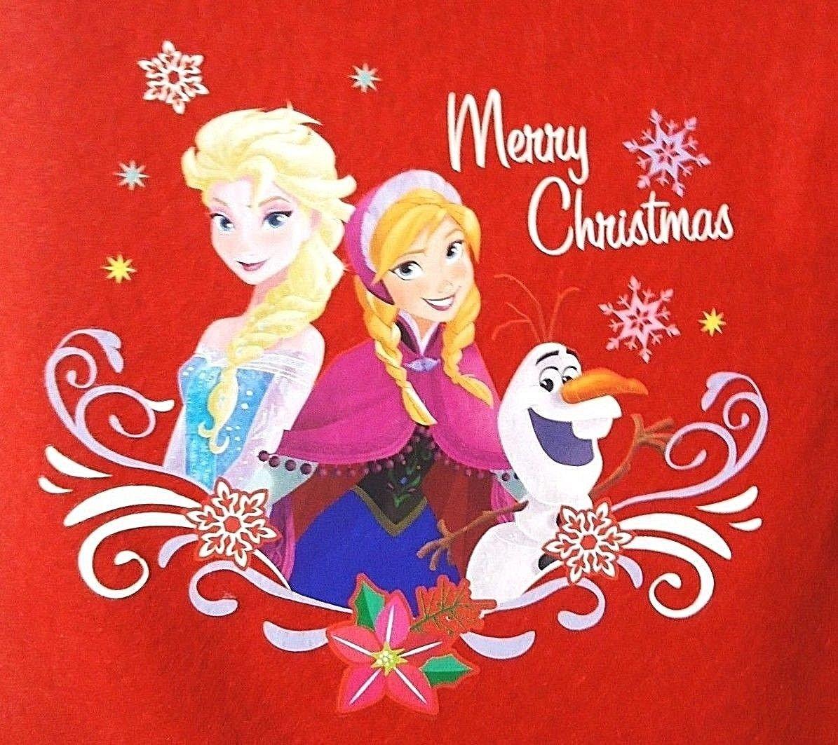 "DISNEY - FROZEN - 18"" - CHRISTMAS - HOLIDAY - RED - WHITE - STOCKING - BRAND NEW"