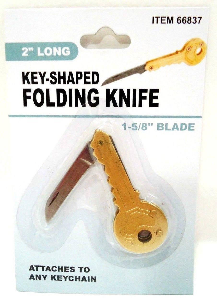 "COLEMAN - 2"" - POCKET - KEY - SHAPED - FOLDING - KNIFE - KEY CHAIN - FOB - NEW"