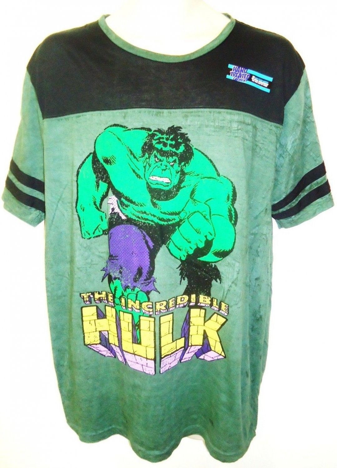 MARVEL - THE INCREDIBLE HULK - XL - GREEN - BLACK - RETRO - TEE - NEW - AVENGERS