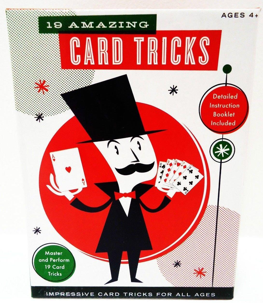 19 - AMAZING - CARD - MAGIC - TRICKS - BRAND NEW - SEALED - POKER - CARD - GAMES