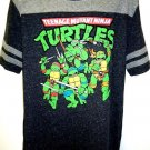 TEENAGE MUTANT NINJA TURTLES - BLACK - GREY - VARSITY - LARGE - T-SHIRT - NEW