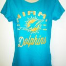 MAJESTIC - MIAMI - DOLPHINS - NFL - TEAM - T-SHIRT - NEW - ORANGE - AQUA - M