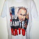 VLADIMIR - PUTIN - RUSSIA - NATO - XL - WHITE - T-SHIRT - BRAND NEW - TEE - KGB