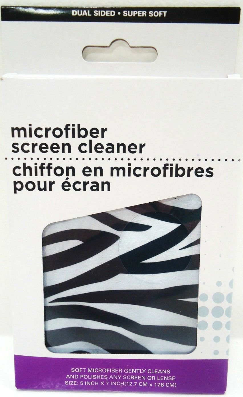 DUAL - SIDED - ZEBRA - MICROFIBER - SCREEN - CLEANER - PC - PHONE - TABLET - NEW