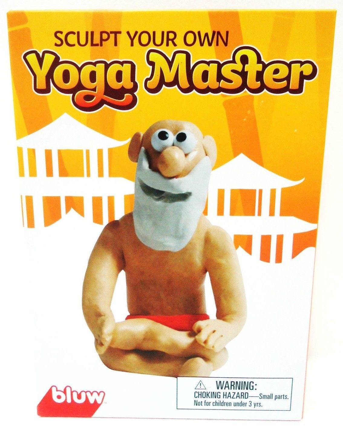 BLUW - SCULPT YOUR OWN YOGA MASTER - CLAY - MODELING - KIT - NEW - CLAYMATION