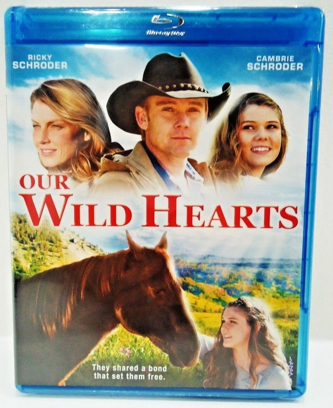OUR WILD HEARTS - DVD - BLU-RAY - RICKY SCHRODER - NEW - FAMILY - HORSES - MOVIE