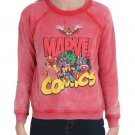 MARVEL - COMICS - RETRO - RED - SWEATSHIRT - MEDIUM - 7/9 - NEW - HULK - THOR