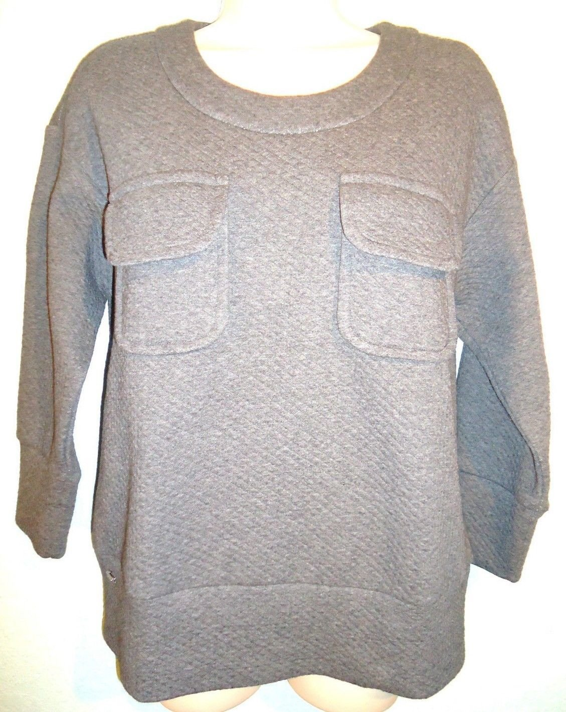 LACOSTE - MARCASSIN - HEATHER - GRAY - SWEATER - BLOUSE - SIZE 6 - TOP - NEW