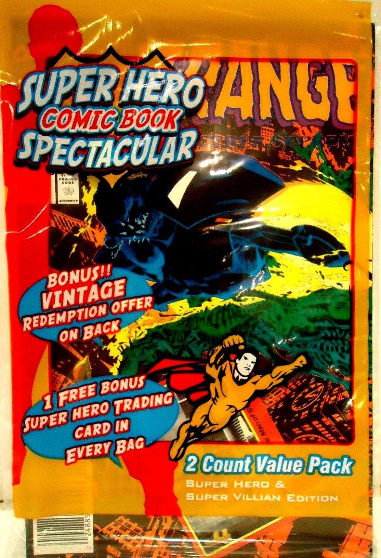 SUPER HERO - COMIC BOOK - SPECTACULAR - DR. STRANGE - 2 PACK - TRADING CARD