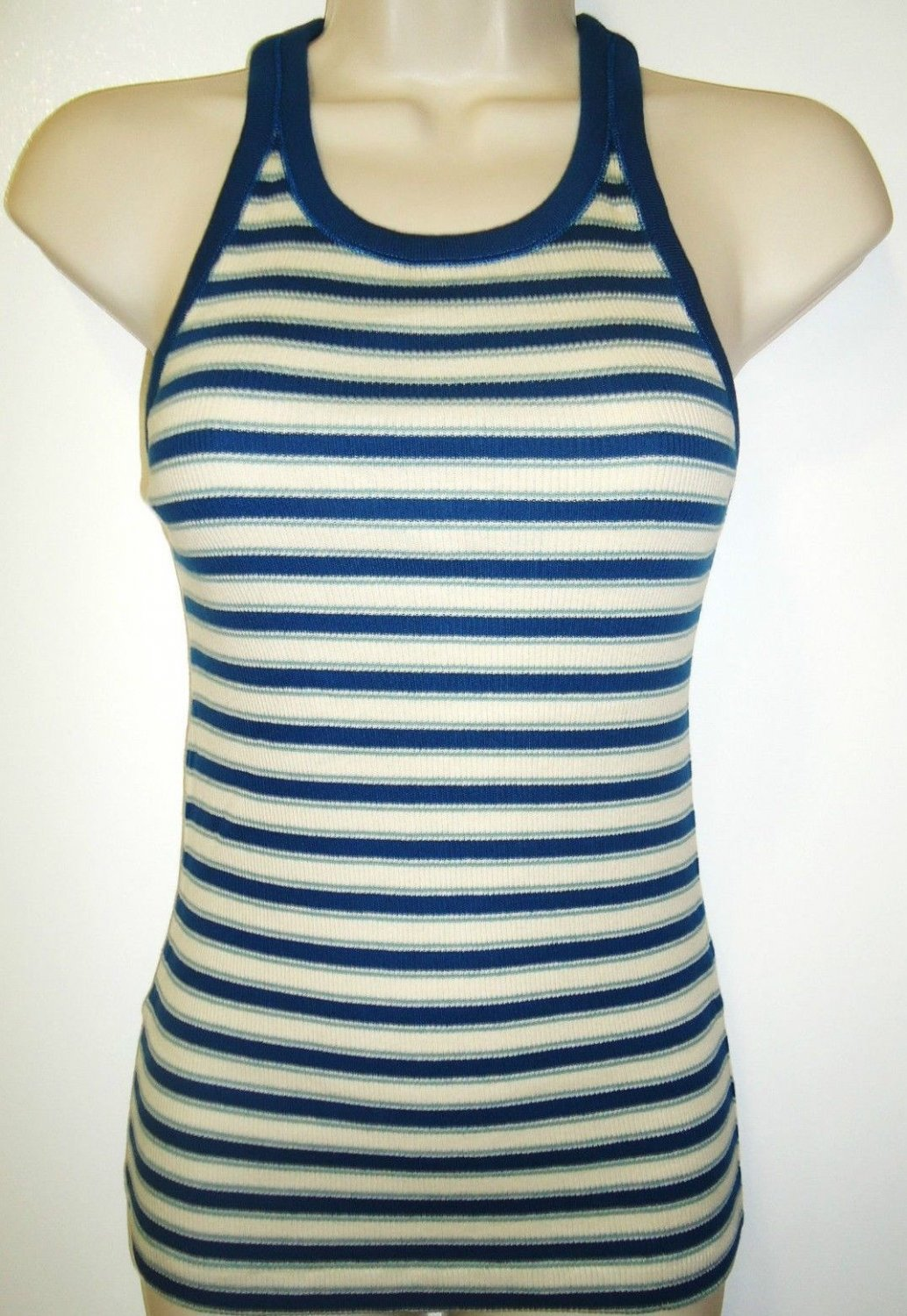 RALPH LAUREN - POLO - RL - BLUE LABEL - BLUE - WHITE - TANK - TOP - NEW - MEDIUM