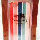 COACH - iPHONE 5 - 5s - PEYTON - STRIPED - CELL PHONE - CASE - BRAND NEW + BONUS